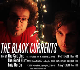 The Black Currents LA Fall Tour 2009